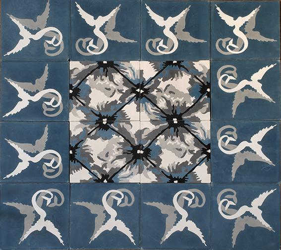Carocim Plassier sirene capiton bleu