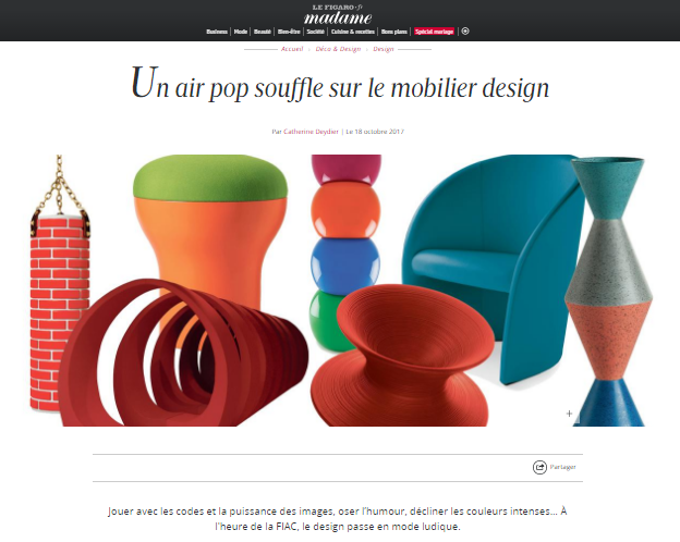Un air pop souffle sur le mobilier design – Madame Figaro (1)