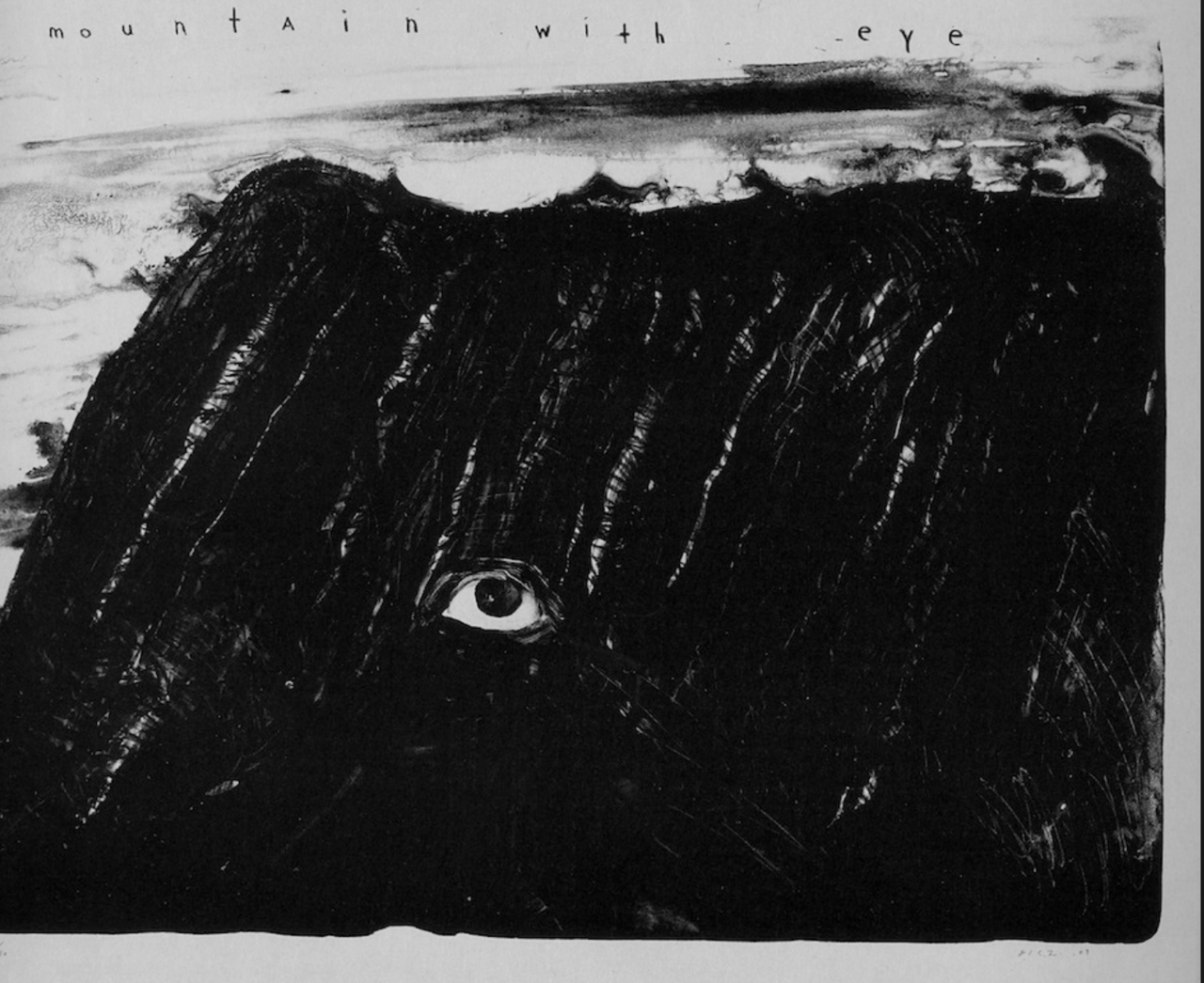 David Lynch, Mountain with eye / Caravana Negra