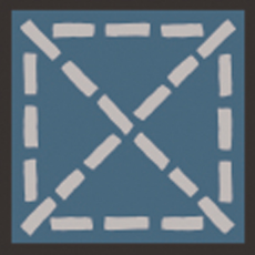 Carocim, motif angle, Bleu