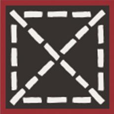 Carocim, motif angle, Rouge